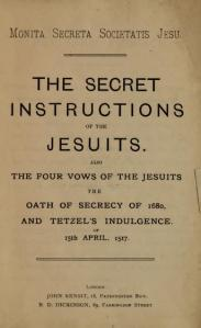 The Secret Instructions of the Jesuits