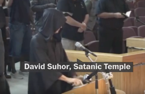 Satanist Opens City Council Meeting with Satanic Invocation in The Bible Belt!